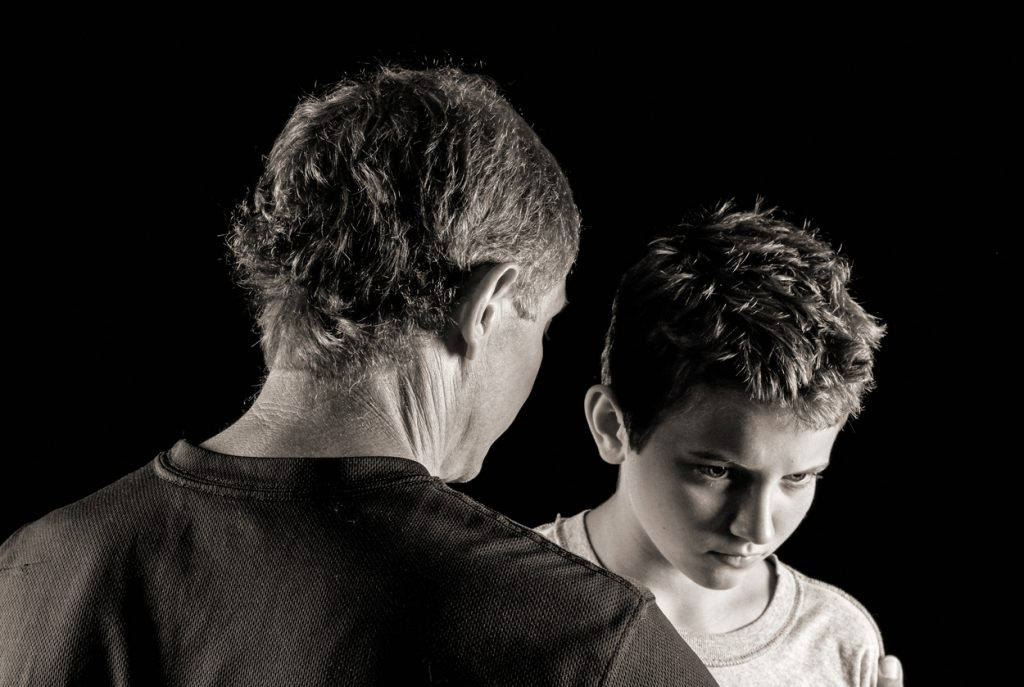 Father-son serious talk